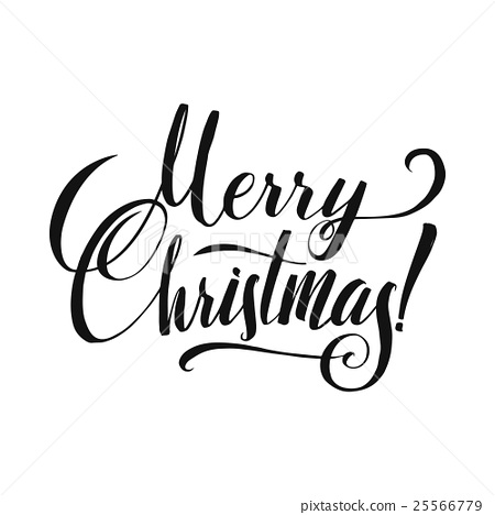Christmas Calligraphy.Merry Christmas Calligraphy Stock Illustration 25566779