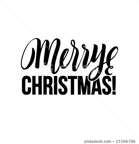 merry christmas calligraphy greeting card