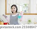 清洗煤氣爐的婦女 25568647