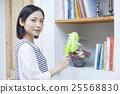 清洗書架的主婦 25568830