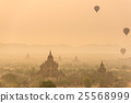 Hot air balloon over plain of Bagan 25568999