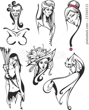 Fantasy set of miscellaneous women and ladies 25569315