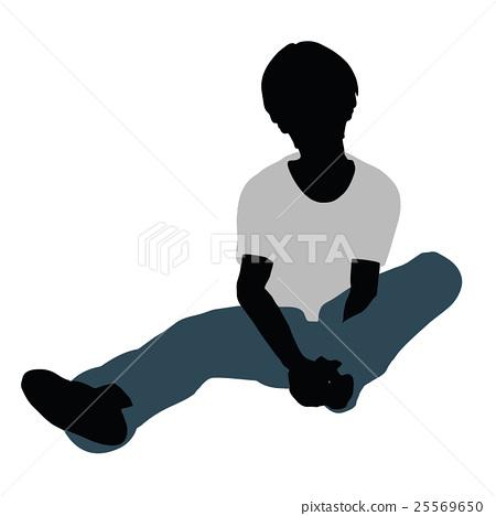 boy silhouette in Happy Talk Pose 25569650