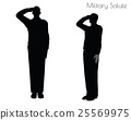 man in salute pose on white background 25569975