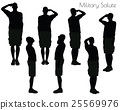 man in salute pose on white background 25569976