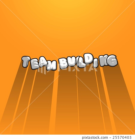 Team Building Title Background With Long Shadow Stock Illustration 25570403 Pixta