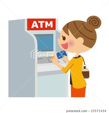 使用ATM的女人 25571434
