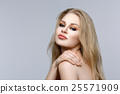 Beautiful girl with blond long hair and makeup 25571909