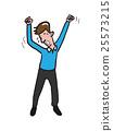 Yawing young man cartoon drawing 25573215