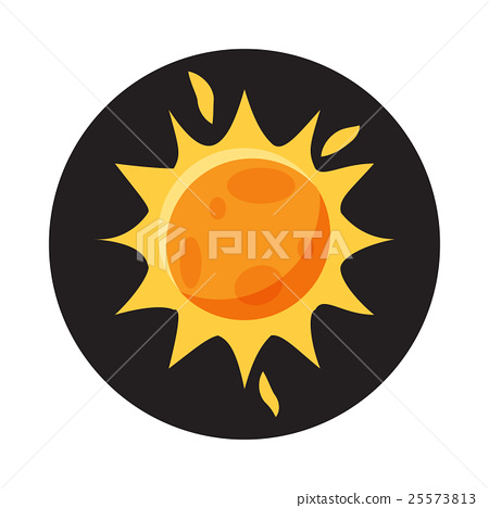 Sun in space icon, cartoon style 25573813