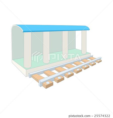 Train station icon, cartoon style 25574322