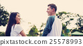 Couple Dating Relaxation Love Theme Park Concept 25578993
