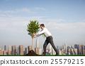 Businessman Entrepreneur Profit Build Concept 25579215