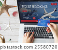 Air Ticket Flight Booking Concept 25580720