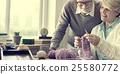glasses, knitting, senior 25580772