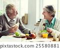 Senior Retirement Breakfast Meal Food Dining Concept 25580881
