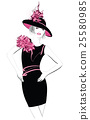 Fashion woman model with a black hat 25580985
