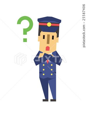 station attendant, vector, vectors 25587406