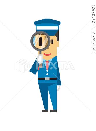 Security guard [Flat human series] 25587929