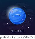 The planet Neptune, vector illustration 25589053