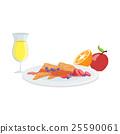 Sweet Crepes, Fruit And Juice Breakfast Food 25590061