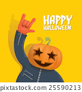 Rock n roll Happy halloween vector greeting card 25590213