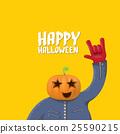 Rock n roll Happy halloween vector greeting card 25590215