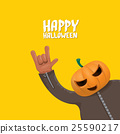 Rock n roll Happy halloween vector greeting card 25590217