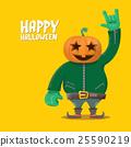 Rock n roll Happy halloween vector greeting card 25590219