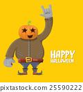 Rock n roll Happy halloween vector greeting card 25590222