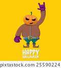 Rock n roll Happy halloween vector greeting card 25590224