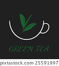 Green tea concept by three colors and ground black 25591997