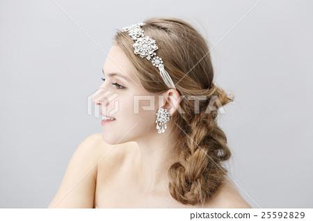 婚禮 新娘 美髮用品 25592829