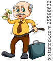 Old man with money 25596632