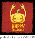 pumpkin rock n roll style halloween greeting card 25598839