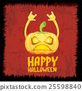 pumpkin rock n roll style halloween greeting card 25598840