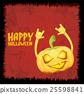 pumpkin rock n roll style halloween greeting card 25598841