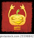 pumpkin rock n roll style halloween greeting card 25598842