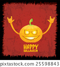 pumpkin rock n roll style halloween greeting card 25598843