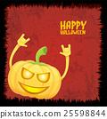 pumpkin rock n roll style halloween greeting card 25598844