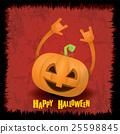 pumpkin rock n roll style halloween greeting card 25598845