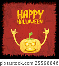 pumpkin rock n roll style halloween greeting card 25598846