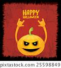 pumpkin rock n roll style halloween greeting card 25598849