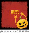 pumpkin rock n roll style halloween greeting card 25598850