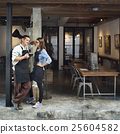 Couple Barista Coffee Shop Service Restaurant Concept 25604582