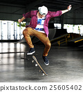 Boy Skateboarding Jump Lifestyle Hipster Concept 25605402
