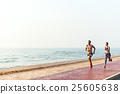 Running Exercise Training Healthy Lifestyle Beach Concept 25605638