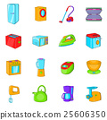 Household appliances icons set, cartoon style 25606350