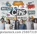 Care Donate Charity Protection Secured Concept 25607319