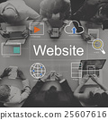Website World Player Search Icons Concept 25607616